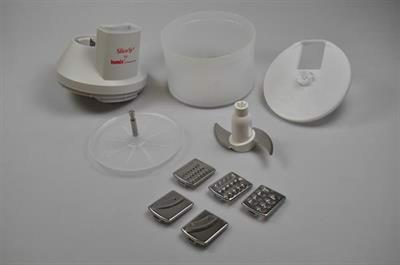 SliceSy foodprocessor, Bamix minihakker & stavblender - Grå