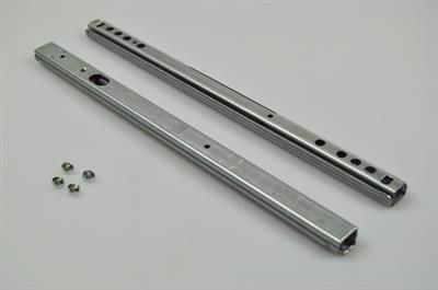 Glideskinne for udtræk, Exhausto emhætte - 15 mm x 10 mm (2 stk)